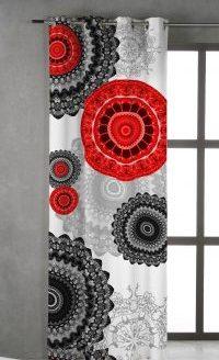 cortina mandalas rojos