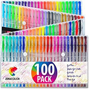 rotuladores de gel zenacolor pack 100 unidades