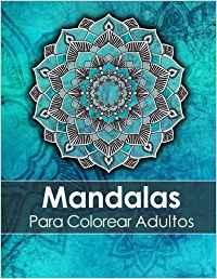 libro para colorear mandalas tapa azul para adultos