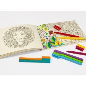 Rotuladores Faber Castell con libro para colorear