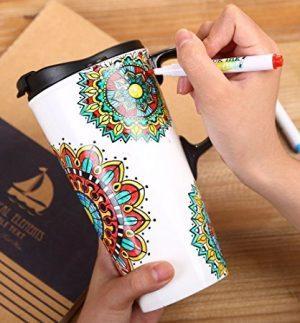 taza para pintar con rotuladores especiales