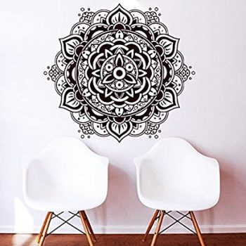 vinilo decorativo de pared mandala en color negro
