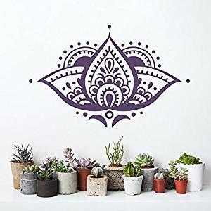Vinilo adhesivo de pared flor de loto morado