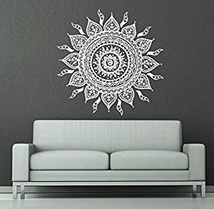 vinilo adhesivo de pared mandala color blanco
