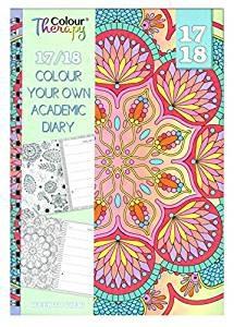 agenda escolar con mandalas para colorear