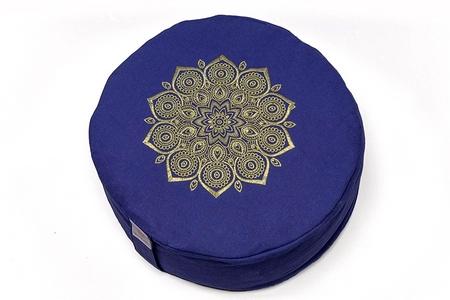 zafu mandala azul bordado