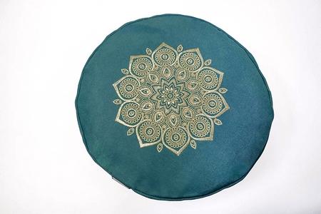 zafu mandala verde esmeralda
