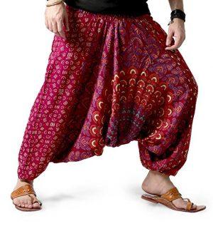 pantalon bombacho en color rojo con mandala