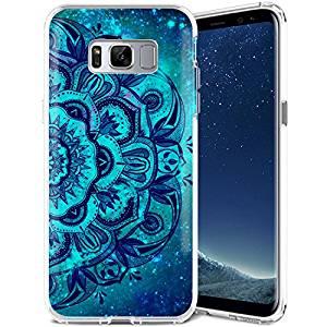 funda de samsung galaxy s8 con mandala azul
