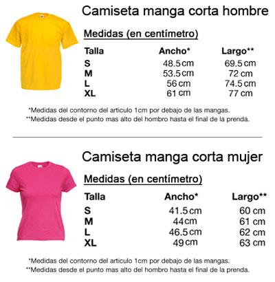 leyenda de tallas de camisetas europea