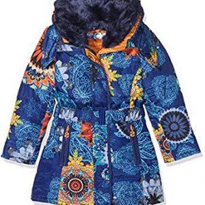 Abrigo azul mandala tonos naranja