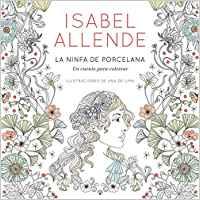 libro para colorear la ninfa de porcelana con cuento de Isabel Allende