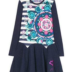 vestido para niña raya marineras y mandala