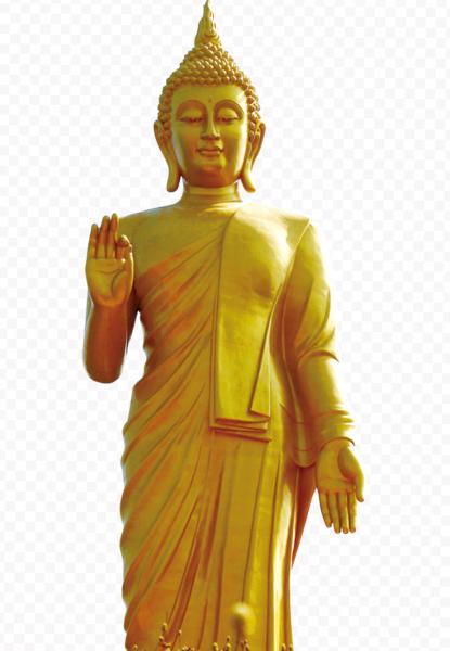 Buda de pie dorado