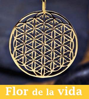colgante flor de la vida oro